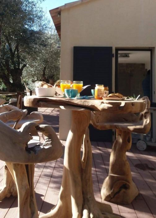 Le petit déjeuner de L'Oliveraie du Fango
